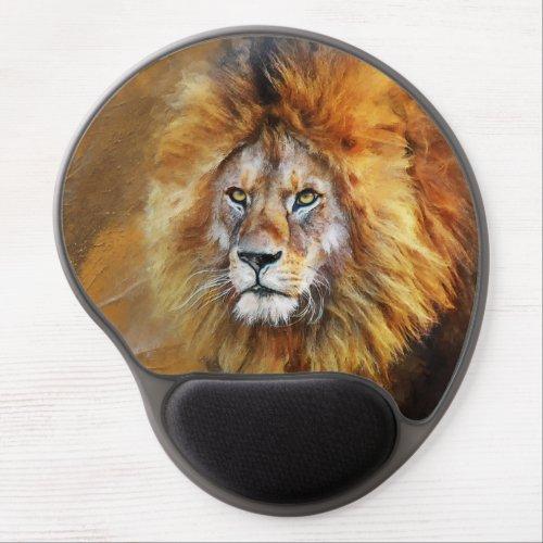 Lion Digital Oil Painting Gel Mouse Pad