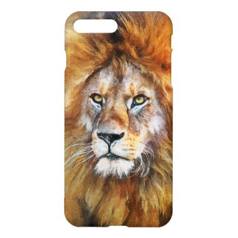 Lion Digital Oil Painting iPhone 8 Plus/7 Plus Case