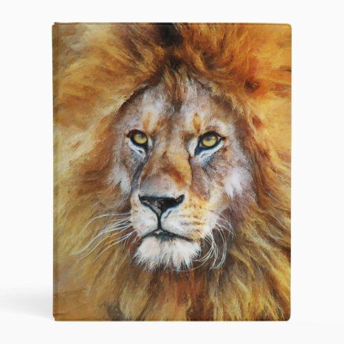Lion Digital Oil Painting Mini Binder