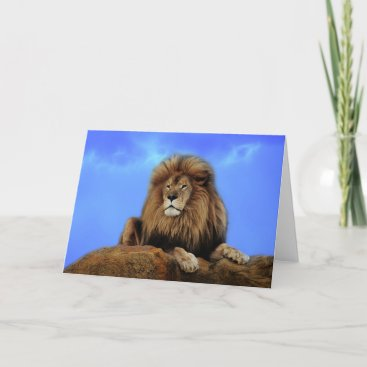 Lion King in Africa Card