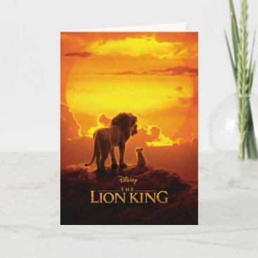 Lion King   Mufasa & Simba At Sunset Card