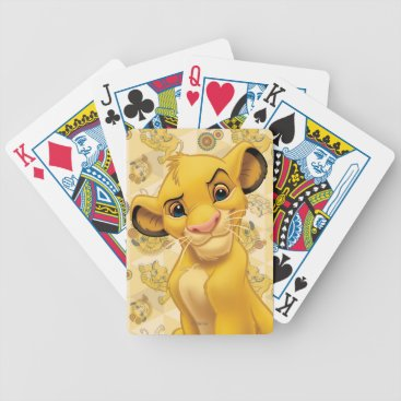 Lion King | Simba on Triangle Pattern Bicycle Playing Cards