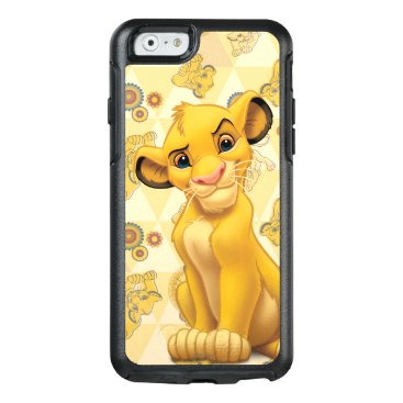 Lion King | Simba on Triangle Pattern OtterBox iPhone 6/6s Case