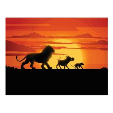 Lion King | Simba, Pumbaa, & Timon Silhouette Postcard