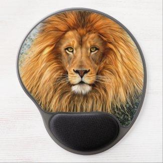 Lion Photograph Paint Art image Gel Mouse Pad