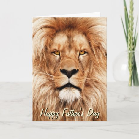 Lion The King Photo Painting Father's Day Card
