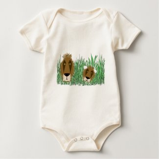 Lions in grass zazzle_shirt