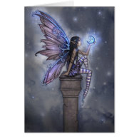 Little Blue Moon Fairy Greeting Card