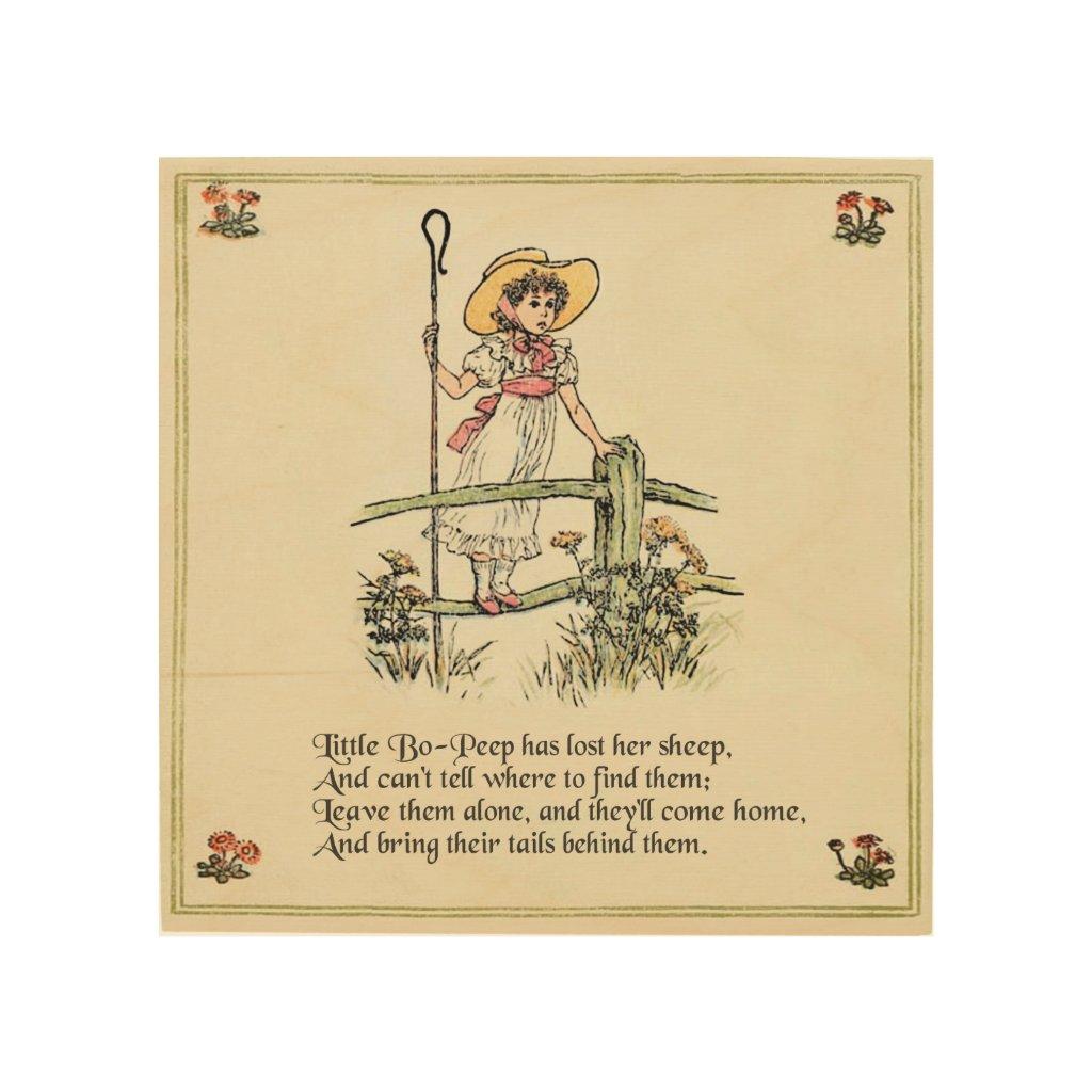 Vintage Nursery Rhymes Wood Wall Art Decor Ideas Cheerful Cart ...
