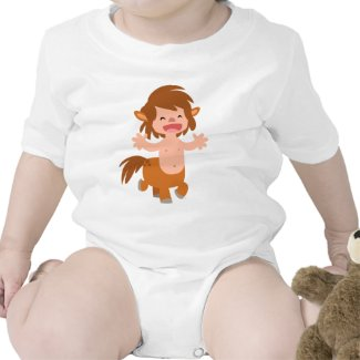 Little Cartoon Centaur Baby Apparel shirt