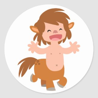 Little Cartoon Centaur Sticker sticker