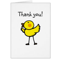 Little chick thank you card