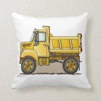 Dump Truck Pillows - Decorative & Throw Pillows | Zazzle
