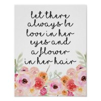 Little Girl Quote Wall Art | Zazzle