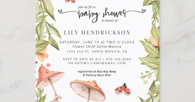 Spring Baby Shower Invitation