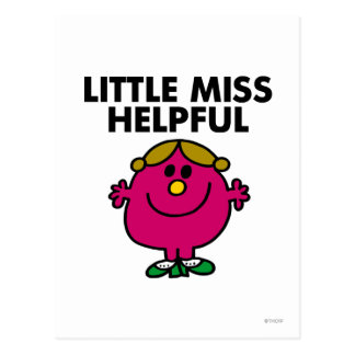 Little Miss Helpful Black Lettering Postcard