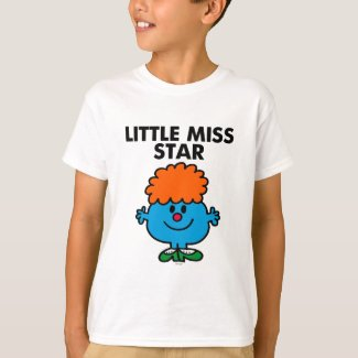Little Miss Star | Black Lettering T-Shirt