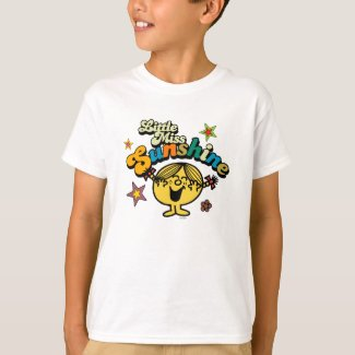 Little Miss Sunshine | Stars & Flowers T-Shirt