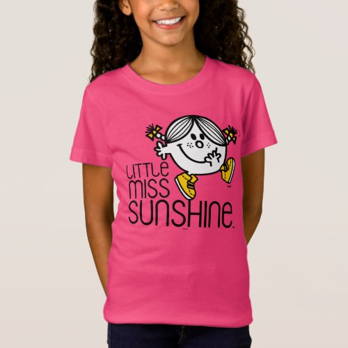 Little Miss Sunshine Walking On Name Graphic T-Shirt