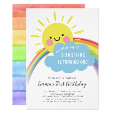 Little Ray Of Sunshine Birthday Invitation
