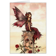 Little Scarlet Rose Fairy Card