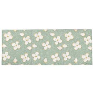 Little White Flowers Billfold Wallet