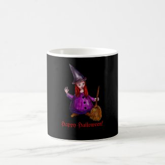 Little witch with red hairs mug