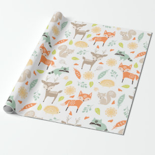 fox wrapping paper zazzle