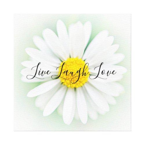 Live Laugh Love Daisy Canvas Print