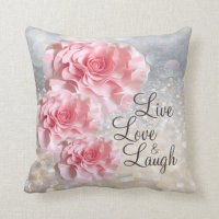 LIVE, LOVE & LAUGH PILLOW