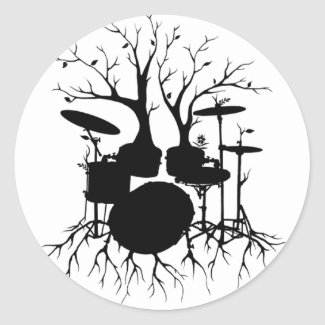 Live the Beat to the Tempo of Creation ~ drum set sticker
