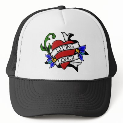 Living Donor Tattoo-inspired Hat by conspicuouschick