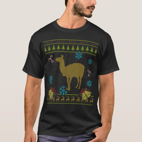 Llama Christmas Ugly Sweater Design Shirt
