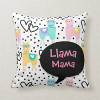 Llama Mama, Cute Pillow , Mother's Day, Gift