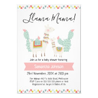 llama Mama LLama Baby Shower Invitation