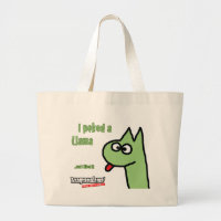 Llama Poke Large Tote Bag