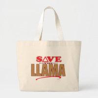 Llama Save Large Tote Bag