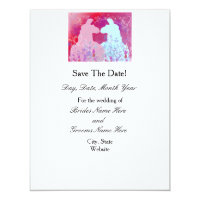 Llama Wedding Save The Date Card