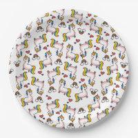 Llamacorn Madness Paper Plate