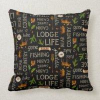 Cabin Lodge Pillows - Decorative & Throw Pillows | Zazzle
