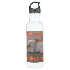 LOL CAT: ai calld jeny craig-but den ai eeted her Water Bottle