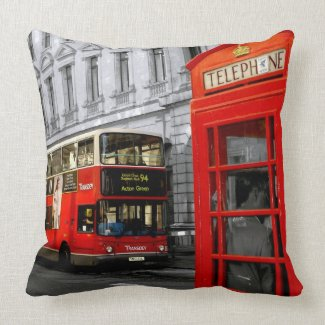 london with a touch of colour throw pillows