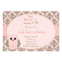 Look Whos Owl Birthday Baby Shower Invitation