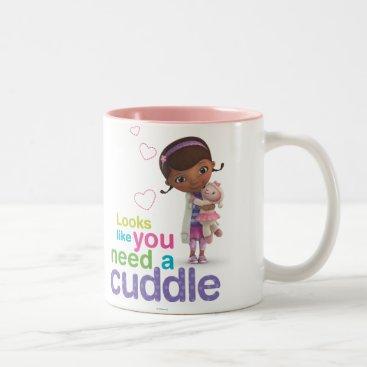Looks Like You Need a Cuddle Two-Tone Coffee Mug