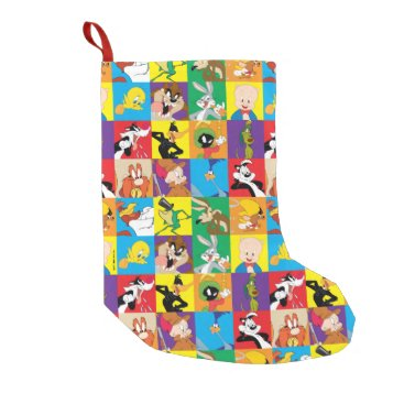 LOONEY TUNES™ Character Grid Small Christmas Stocking