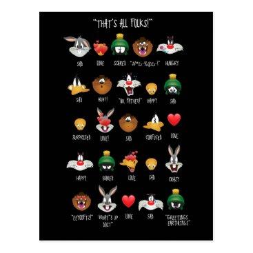 LOONEY TUNES™ Emoji Chart Postcard