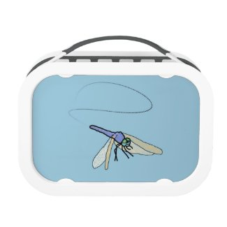 Loop, A Blue Dragonfly, Blue/Grey Lunchbox Lunch Box