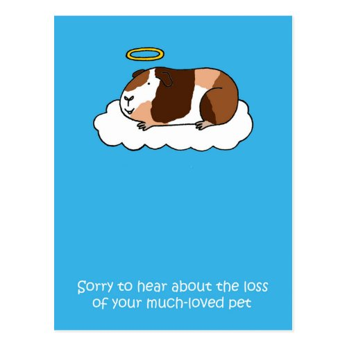 Loss of Pet Guinea Pig. Postcard