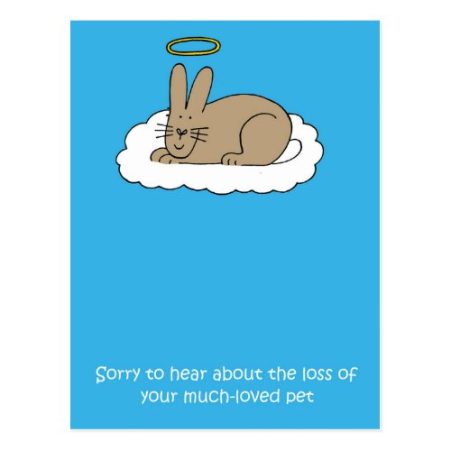 Loss of rabbit sympathy. postcard