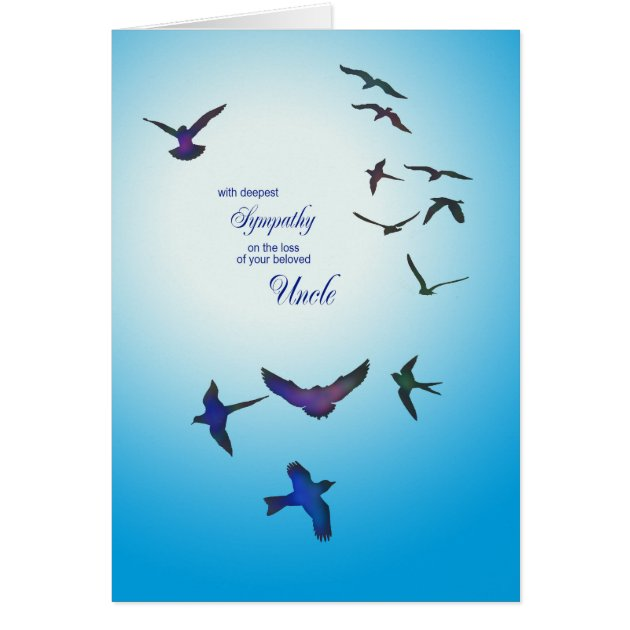 Loss Of Uncle Sympathy Card Flying Birds Card Zazzle Com